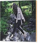 Walking On Water Wood Print