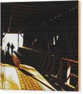 Walking Through History - Elizabethton Tennesse Covered Bridge Wood Print