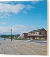 Walkway Along The Yukon River In Whitehorse-yk  Wood Print