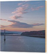 Walkway Over The Hudson Dawn Wood Print
