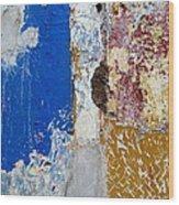 Wall Abstract 142 Wood Print