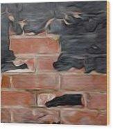 Wall Brick Wood Print
