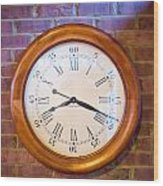 Wall Clock 1 Wood Print by Douglas Barnett