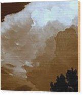 Wall Cloud  Wood Print