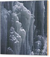 wall of ice in Partnach gorge 3 Wood Print