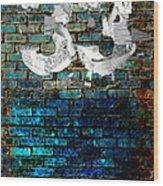 Wall Of Knowlogy Abstract Art Wood Print