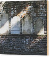Wall Of Tombstones Knocked Down During Civil War Wood Print