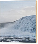 Wall Of Water Wood Print