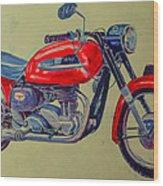 Wall Painted Motocycle Wood Print