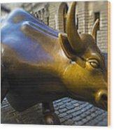 Wall Street Bull Market Wood Print