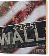 Wall Street Wood Print
