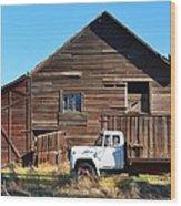 Walla Walla Barn Wood Print