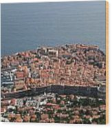 Walled City Of Dubrovnik Wood Print