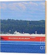 Wallenius Wilhelmsen Logistics Tamerlane Ship Wood Print