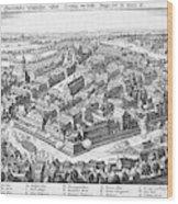 Wallenstein's Army Besieges  Leipzig Wood Print
