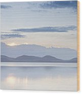 Wallis Lake Sunset Wood Print by Steve Caldwell