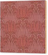 Wallpaper Design Wood Print by Victorian Voysey
