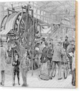 Wallpaper Printing, 1876 Wood Print