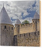 Walls Of Carcassonne Wood Print