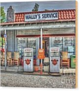 Wally's Service Station Wood Print by Dan Stone