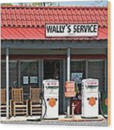 Wally's Service Station Mayberry Nc Wood Print by Bob Pardue