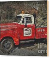 Wally's Towing Wood Print by David Arment
