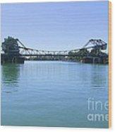 Walnut Grove Bascule Bridge Wood Print