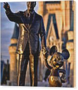 Walt And Mickey Wood Print