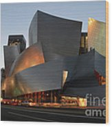 Walt Disney Concert Hall 21 Wood Print by Bob Christopher