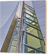 Walt Disney Concert Hall Vertical Exterior Building Frank Gehry Architect 6 Wood Print