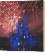 Walt Disney World Resort - Magic Kingdom - 121271 Wood Print by DC Photographer