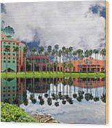 Walt Disney World Swan Hotel  Wood Print
