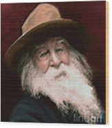 Walt Whitman Wood Print