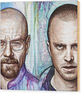Walter And Jesse - Breaking Bad Wood Print