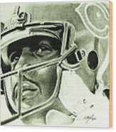 Walter Payton Wood Print by Don Medina