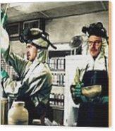 Walter White and Jesse Pinkman Wood Print
