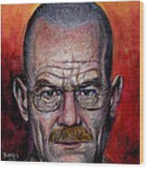 Walter White Wood Print by Mark Tavares