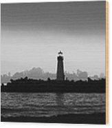 Walton Lighthouse Bw Wood Print by Deana Glenz