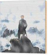 Wanderer Above The Sea Of Fog Wood Print