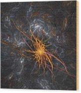 Wandering In Space Wood Print by Bijan Studio