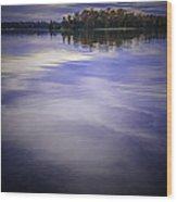 Wanigan View Of Au Sable River Wood Print