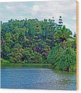Waoleke Pond Forest Wood Print