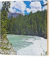 Wapta Falls In Yoho Np-bc  Wood Print