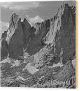 109646-war Bonnet And Warrior 1, Wind Rivers Wood Print