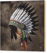War Bonnet Wood Print by Daniel Eskridge