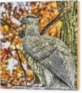 War Eagles - 28th Massachusetts Volunteer Infantry Rose Woods The Wheatfield Fall-a Gettysburg Wood Print by Michael Mazaika