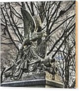 War Eagles - 88th Pa Volunteer Infantry Cameron Light Guard-d1 Oak Hill Autumn Gettysburg Wood Print by Michael Mazaika