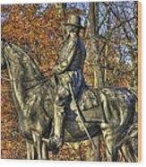War Horses - Major General John Sedgwick Commanding Sixth Corps Autumn Gettysburg Wood Print