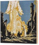 War Poster - Ww1 - Christians Support Red Cross Wood Print
