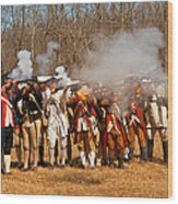 War - Revolutionary War - The Musket Drill Wood Print by Mike Savad